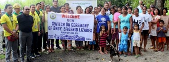 Talisay City purok receives electricity through Ceneco extension project