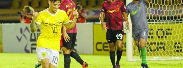 Porteria brace leads Ceres FC over Stallion Laguna