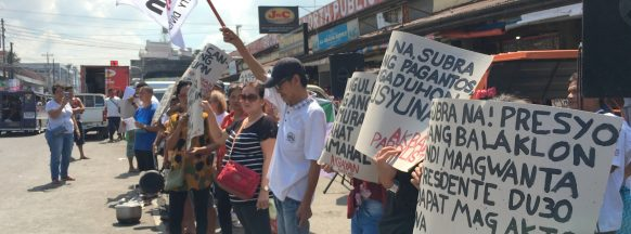 Akbayan holds demonstration in Bacolod City