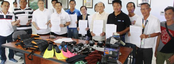 Tour guide equipment turned over in Sagay City