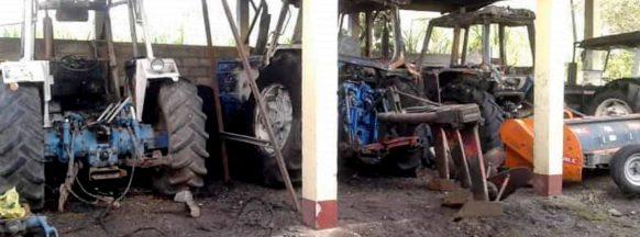 NPA torches tractors in Negros Oriental