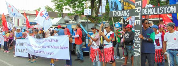 Progressive group holds protest in  Bacolod City over recent killings