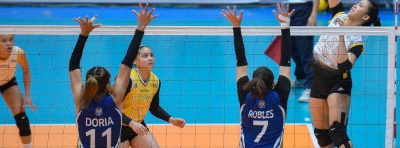 UST women's volleyball team beats NU