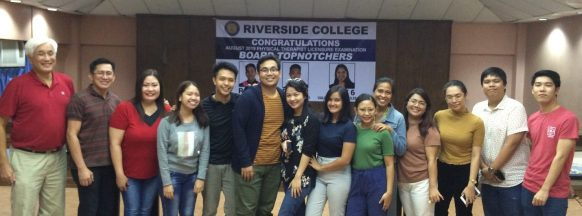 Riverside College throws pizza and ice cream party  for the three Top 10 physical therapist board passers