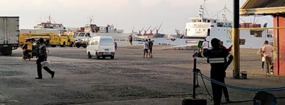 Ro-Ro catches fire at Bredco Port