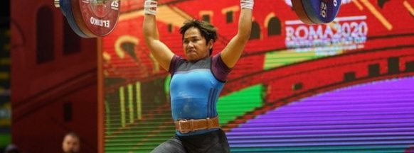 Diaz wins three gold medals  at Weightlifting World Cup