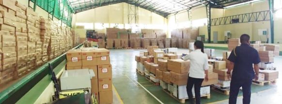 Bacolod City receives donated goods to combat the coronavirus