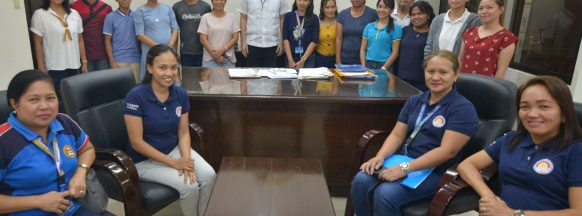 Provincial interns visit the governor