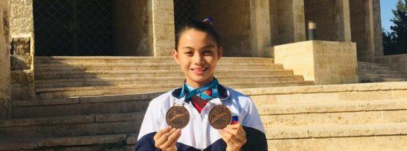 Negrense taekwondo jins shine in online poomsae tilt