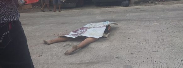 Truck fatally hits  'deranged' man