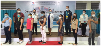 7 top medical staff vaccinated at Dr. Pablo O. Torre Memorial Hospital COVID-19 Ceremonial Vaccination