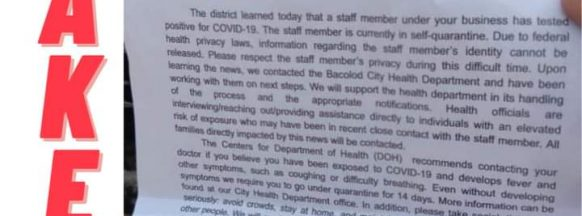 Public warned on fake  quarantine advisories